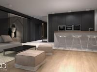 mieszkanie 64m2 – projekt salonu